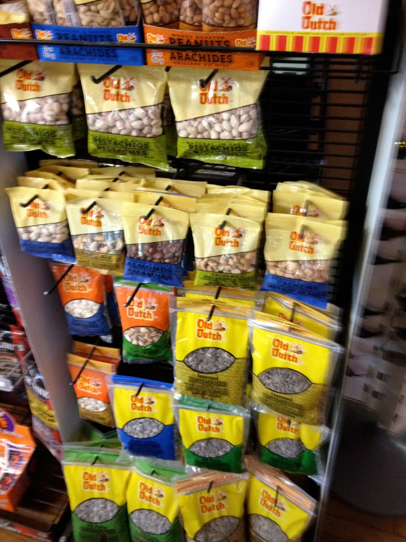 Old Dutch snack display in Alberta. © Janis Thiessen, University of Winnipeg, ja.thiessen@uwinnipeg.ca.