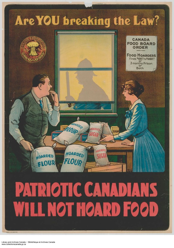 Canada Food Board poster, 1918. (SOURCE: Library and Archives Canada, MIKAN no. 3635512)